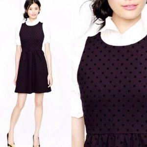 J crew Black Polka Dot Ponte Sleeveless Dress